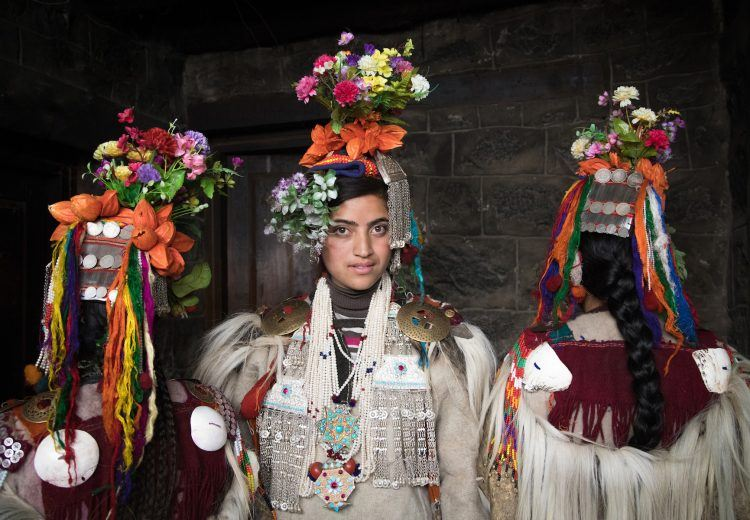 Brokpa women in traditional dress are some of the most beautiful women in the Himalayas