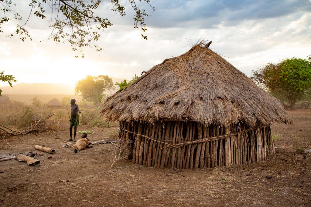 Remote cattle camp sunrise