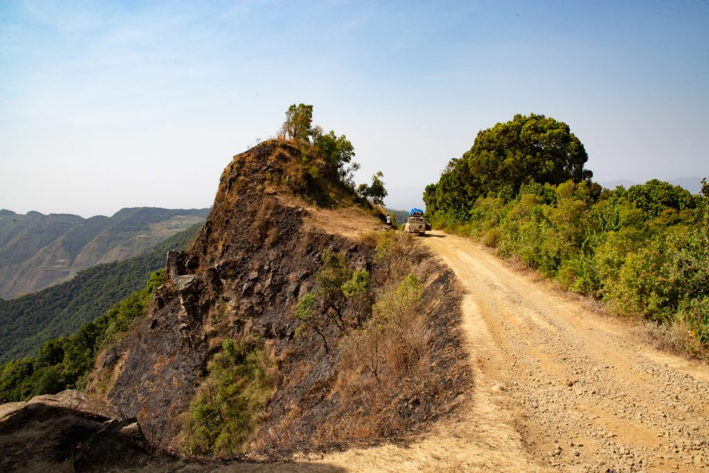 Driving in remote southern Ethiopia with Wild Images photo tours