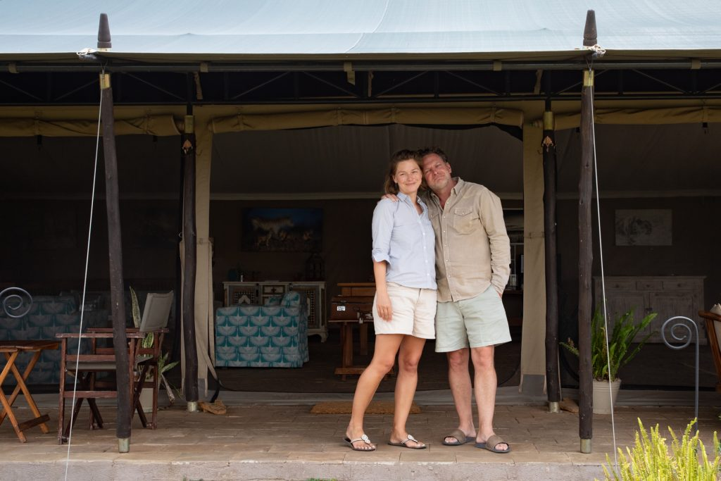 Darren and Emma, the superb hosts of Kicheche, on the Wild Images photography tour of Kenya (image by Inger Vandyke)