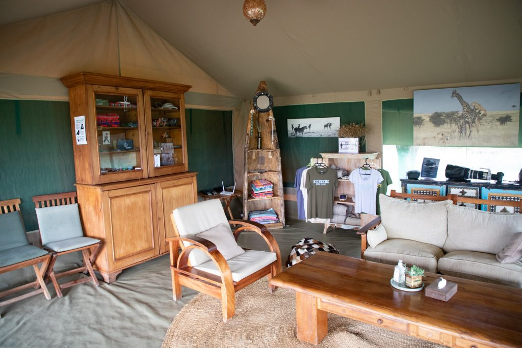 The lounge at Kicheche Bush Camp on the Wild Images photography tour of Kenya (image by Inger Vandyke)