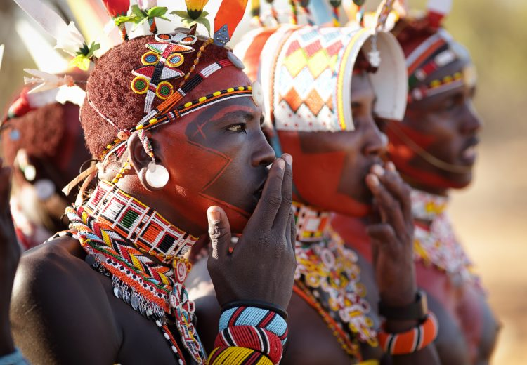Samburu warriors in northern Kenya